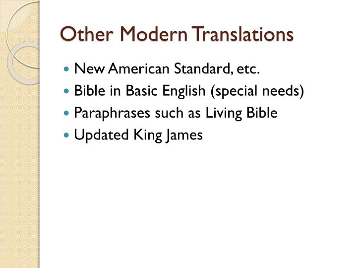 Other Modern Translations