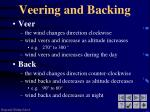 veering and backing