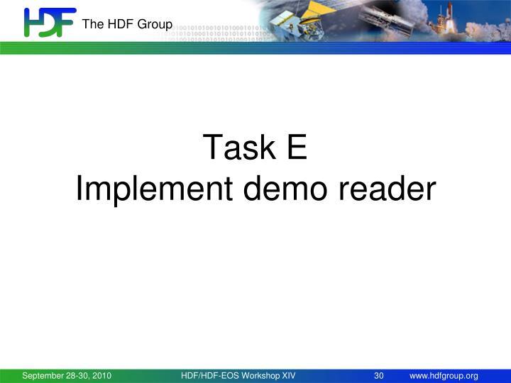 Task E