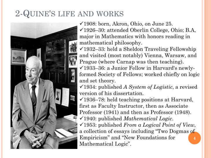 2-Quine's life and works