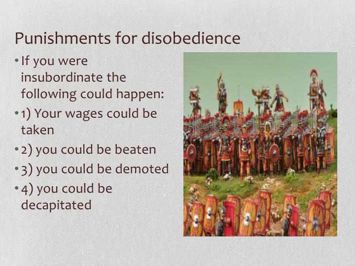 Punishments for disobedience