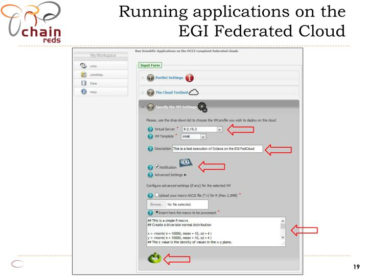 Running applications on the EGI Federated Cloud