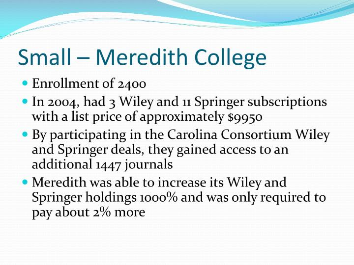 Small – Meredith College