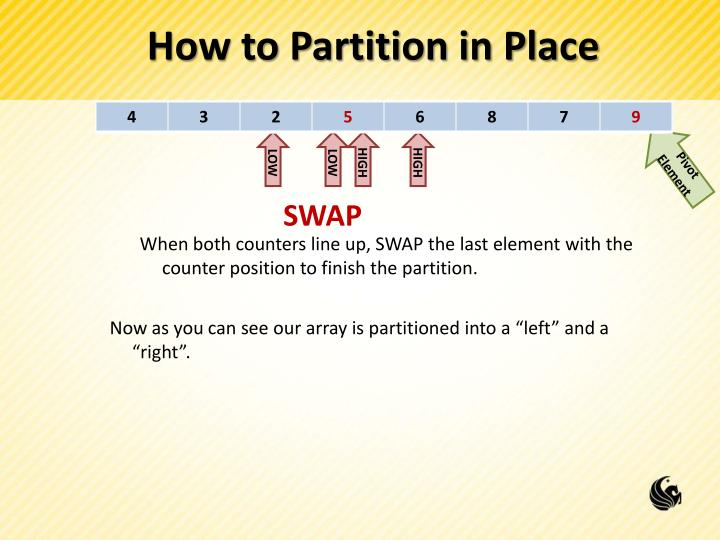 How to Partition in Place