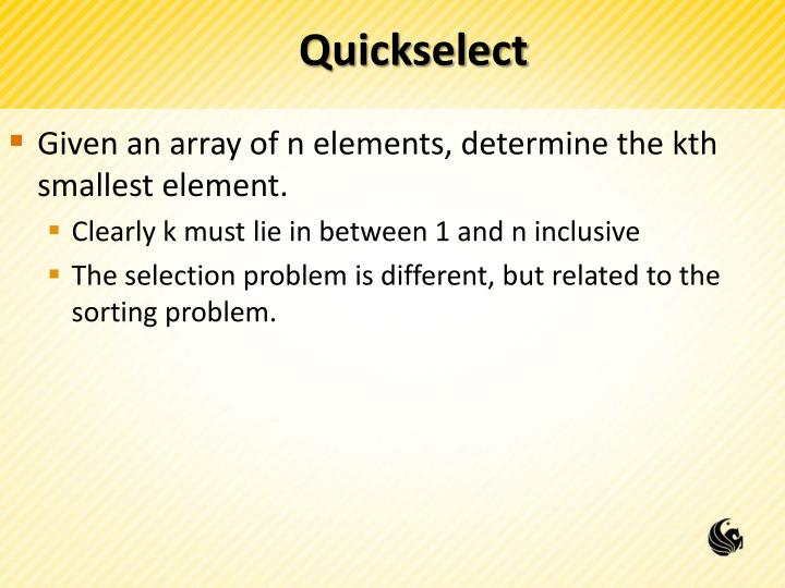 Quickselect