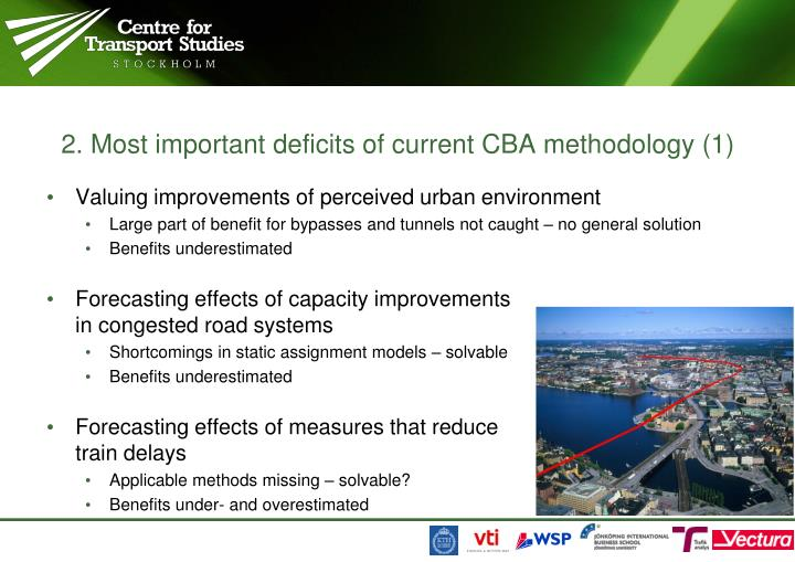 2. Most important deficits of current CBA methodology (1)