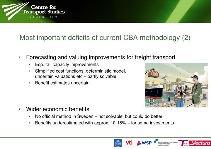 Most important deficits of current CBA methodology (2)