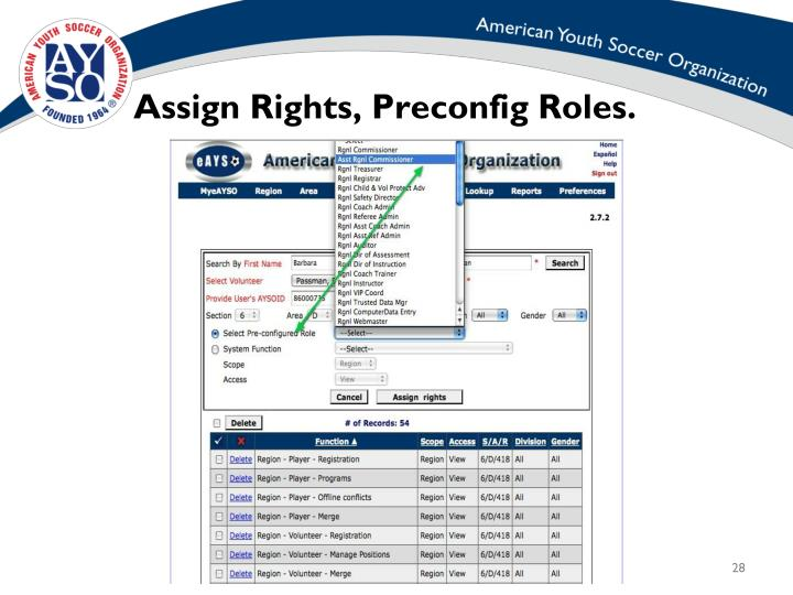 assigned rights definition