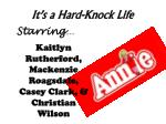 it s a hard knock life