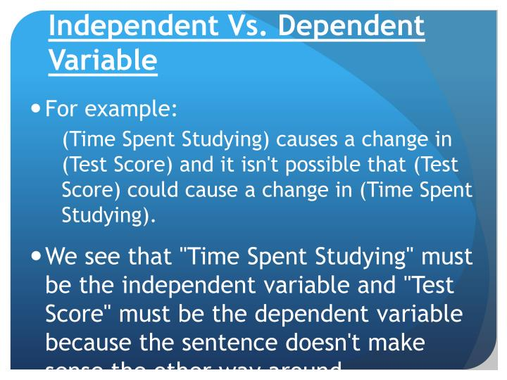 mis dependent independent variables