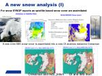 a new snow analysis i