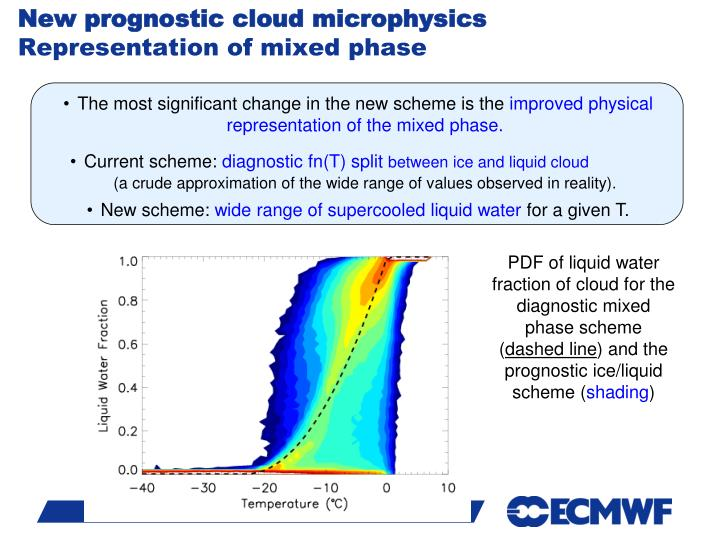 New prognostic cloud microphysics