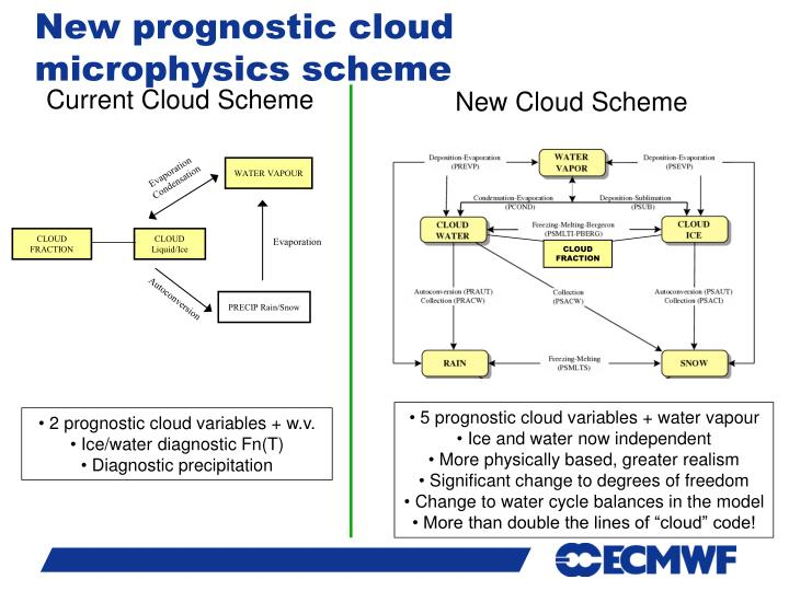 New prognostic cloud microphysics scheme