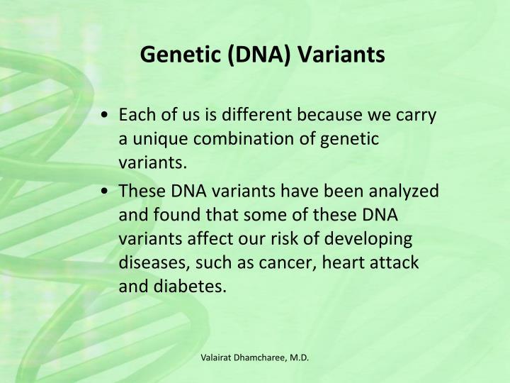 Genetic (DNA) Variants
