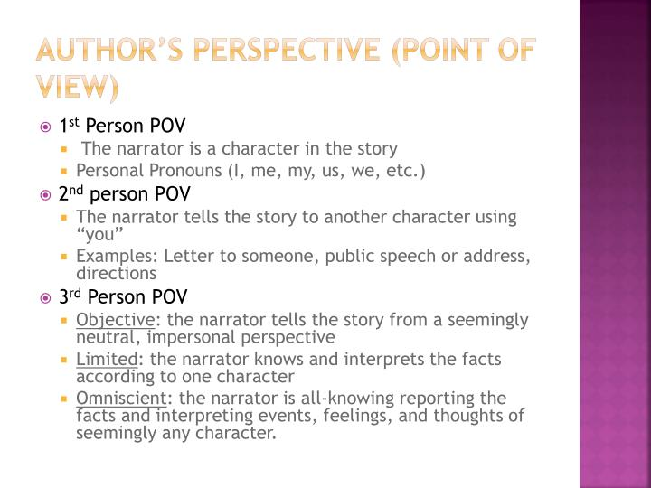 Author's Perspective (point of view)