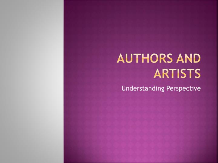 Authors and Artists