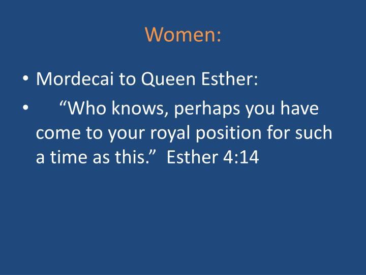 Women: