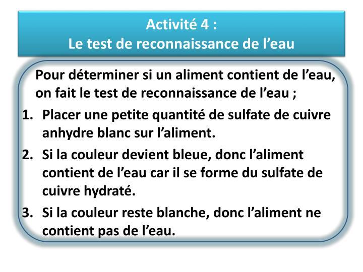 Activité 4: