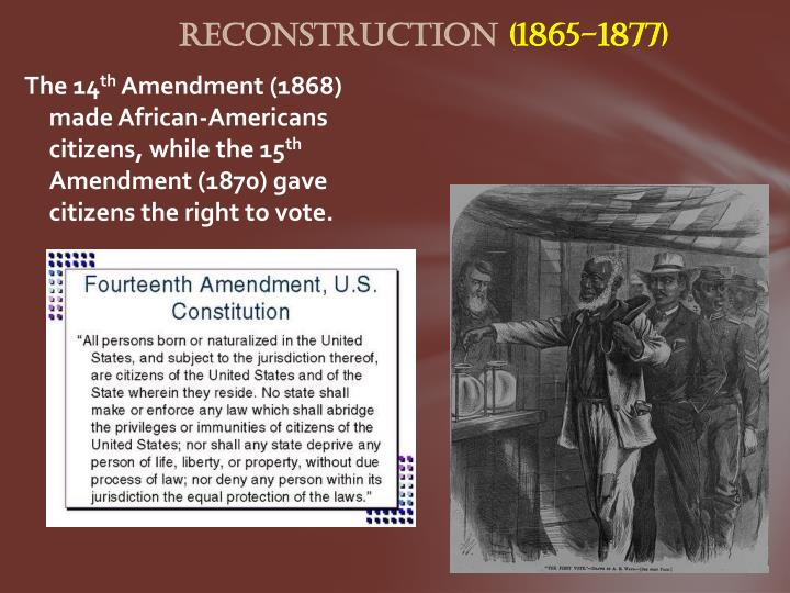 the rise of african americans from 1865 African‐americans after reconstruction in much of the country in the late nineteenth century, social tensions were defined in terms of rich versus poor, native‐born versus immigrant, and worker versus capitalist.