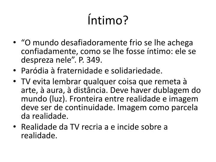 Íntimo