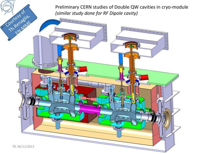 Preliminary CERN studies of