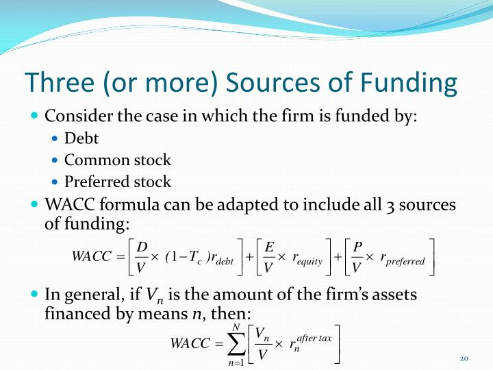 Three (or more) Sources of Funding