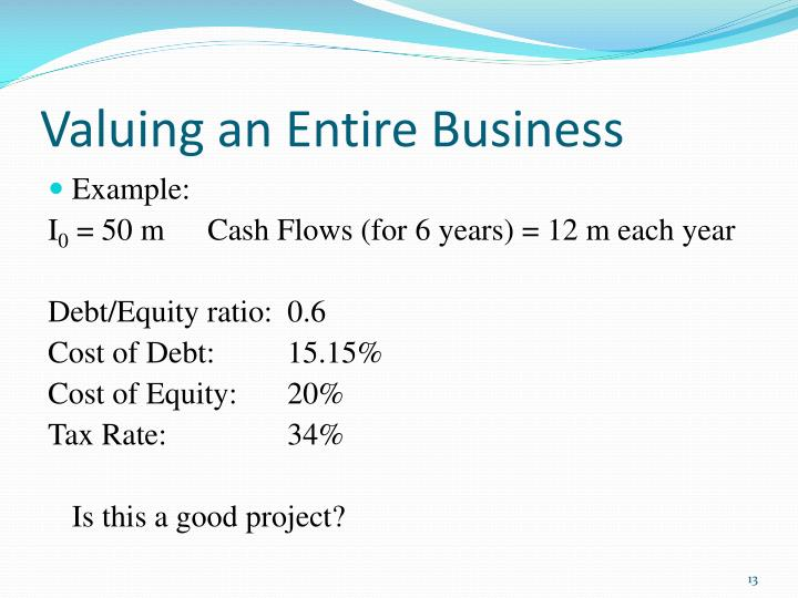 Valuing an Entire Business