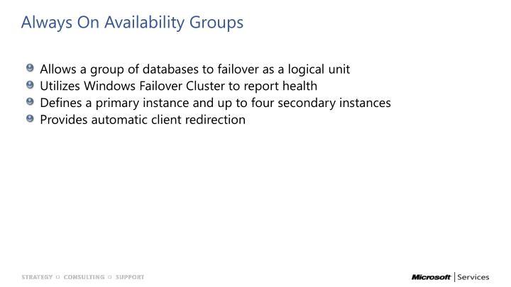 Always On Availability Groups