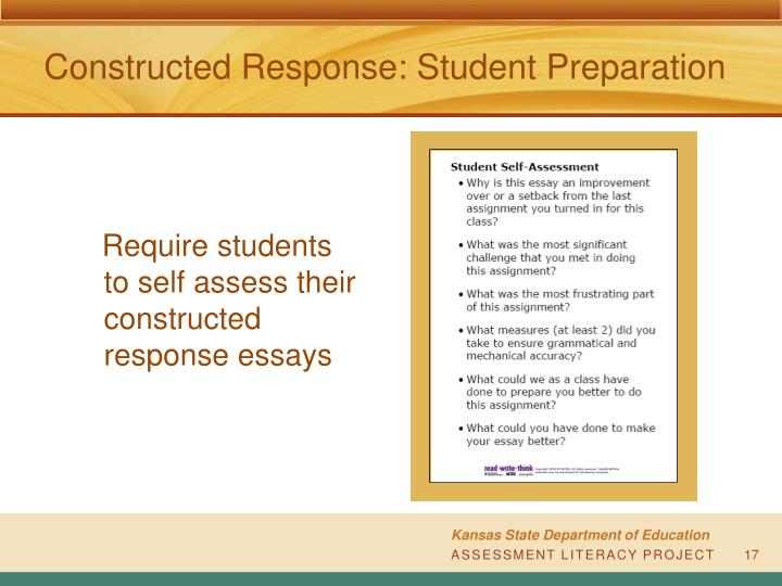 Constructed Response: Student Preparation