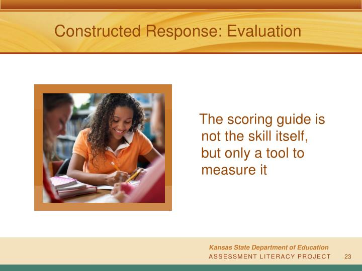 Constructed Response: Evaluation