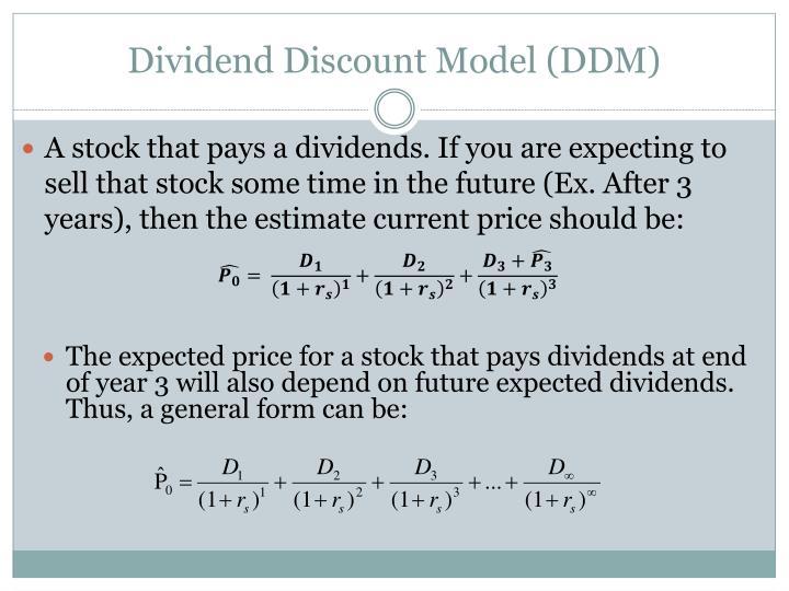 Dividend Discount Model (