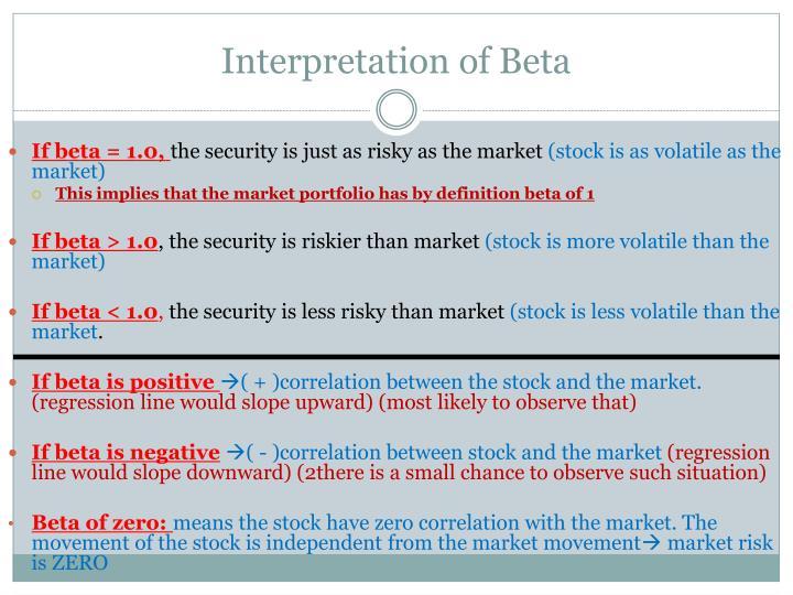 Interpretation of Beta