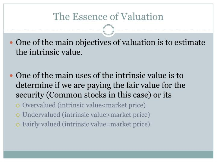 The Essence of Valuation