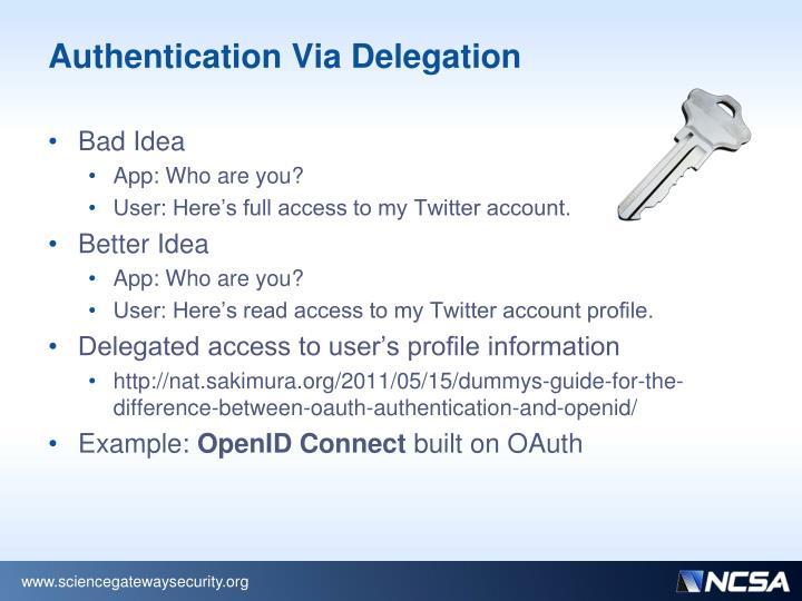 Authentication Via