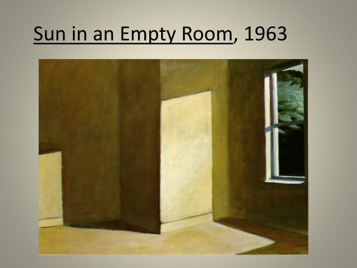 Sun in an Empty Room