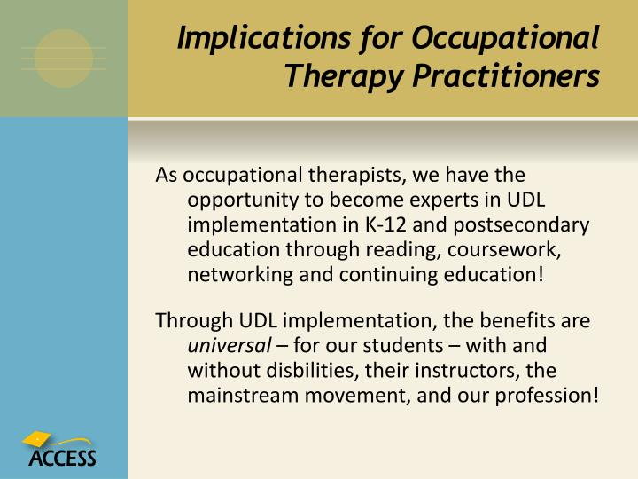 Implications for Occupational Therapy Practitioners