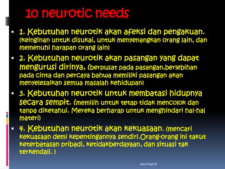 10 neurotic needs