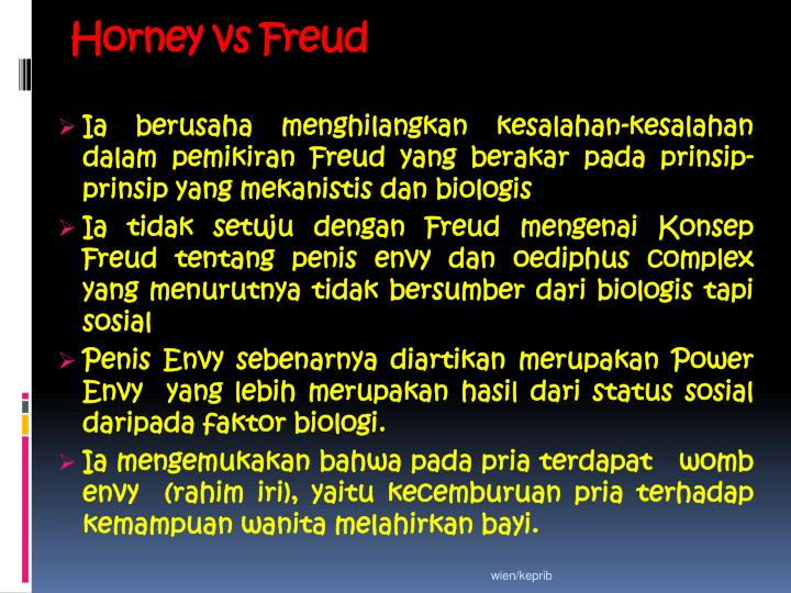 Horney vs Freud