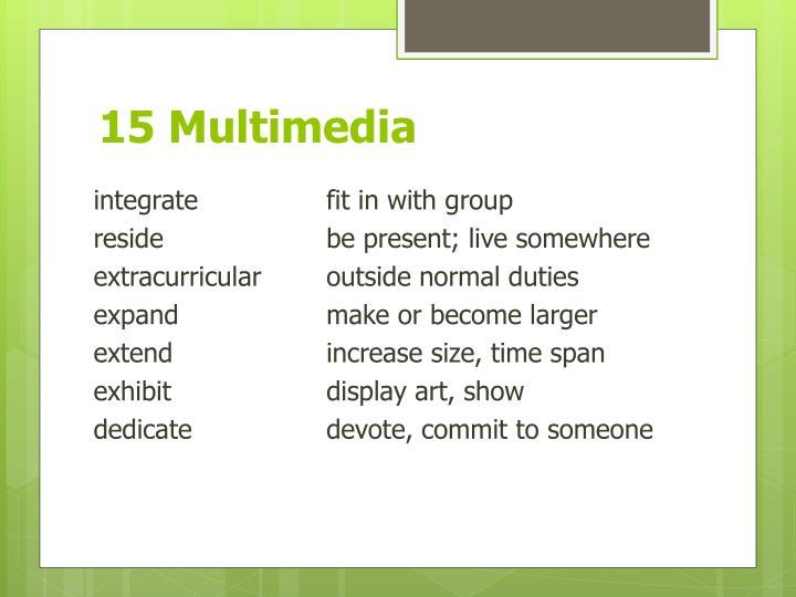 15 Multimedia