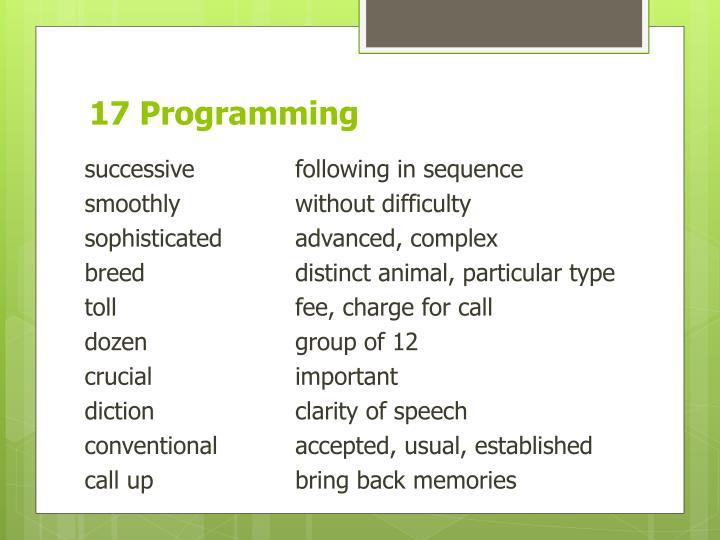 17 Programming