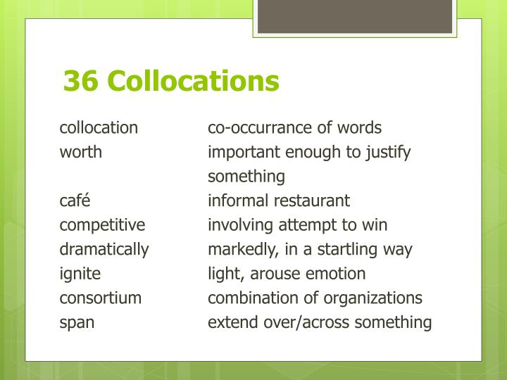36 Collocations
