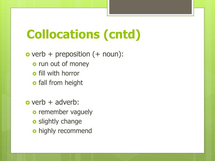 Collocations (