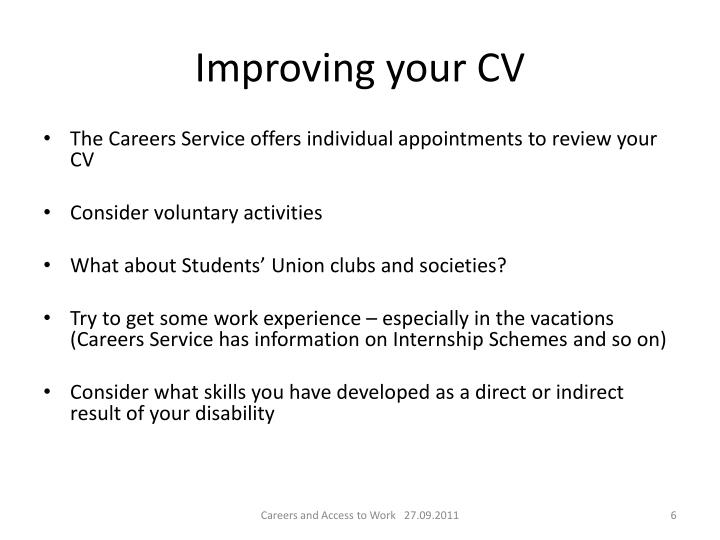 Improving your CV