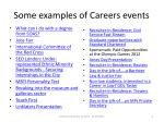 some examples of careers events