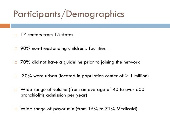 Participants/Demographics