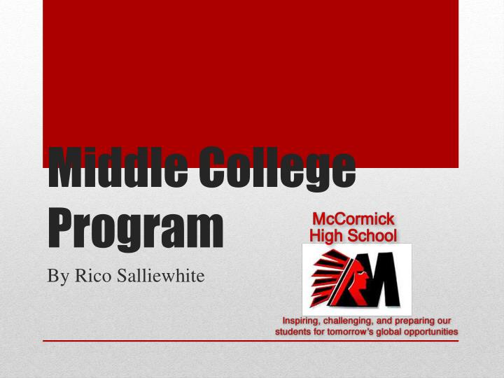Middle college program
