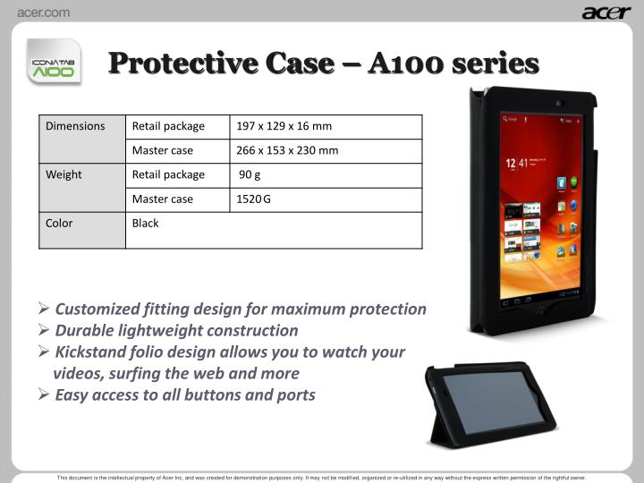 Protective Case – A100 series