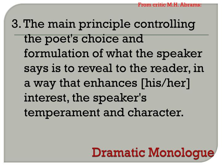 From critic M.H. Abrams: