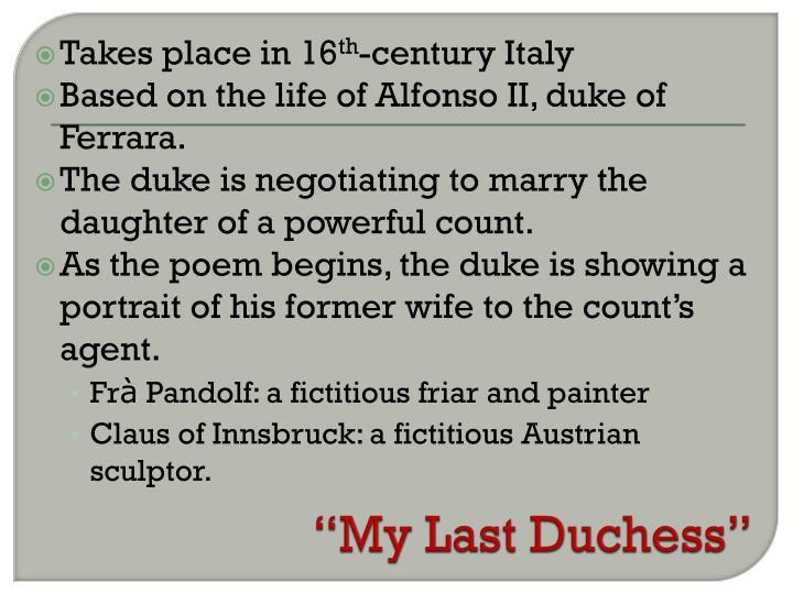 """My Last Duchess"""