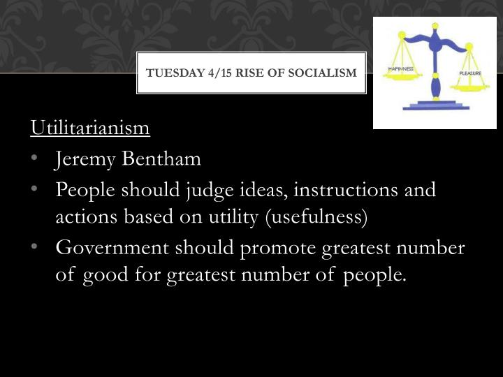 Tuesday 4/15 Rise of Socialism